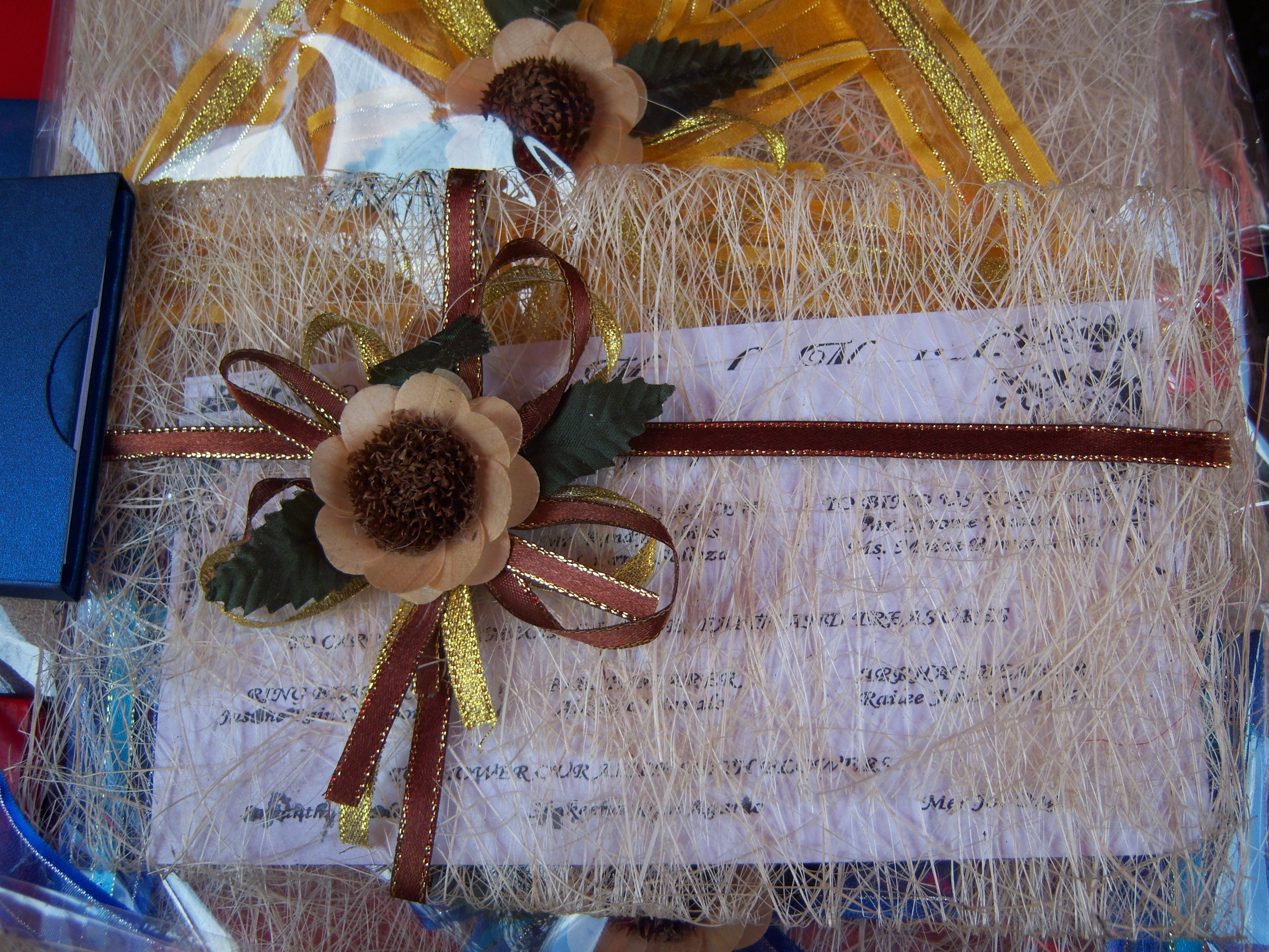 Wedding Invites With Indigenous Materials Craftandarts S Blog